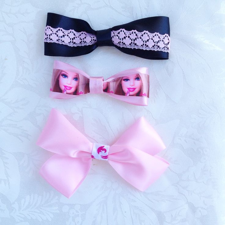 Bow hair clips hand made $3 each Free postage within Australia https://www.facebook.com/bowdownforbows #barbie #pinkbow #pink #cute #fashion