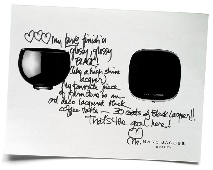 Marc Jacobs on what inspired him to create the blackest, shiniest black for Marc Jacobs Beauty. Read it on the #Sephora Glossy. #MarcTheMoment