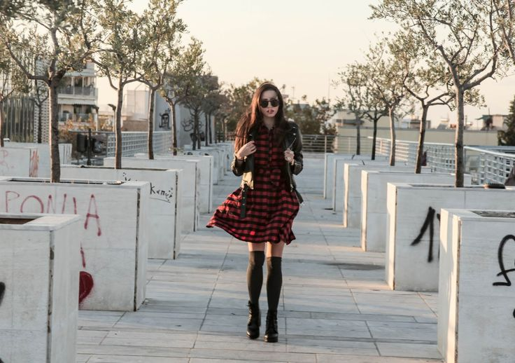 Christy and the city: PLAID SHIRT DRESS