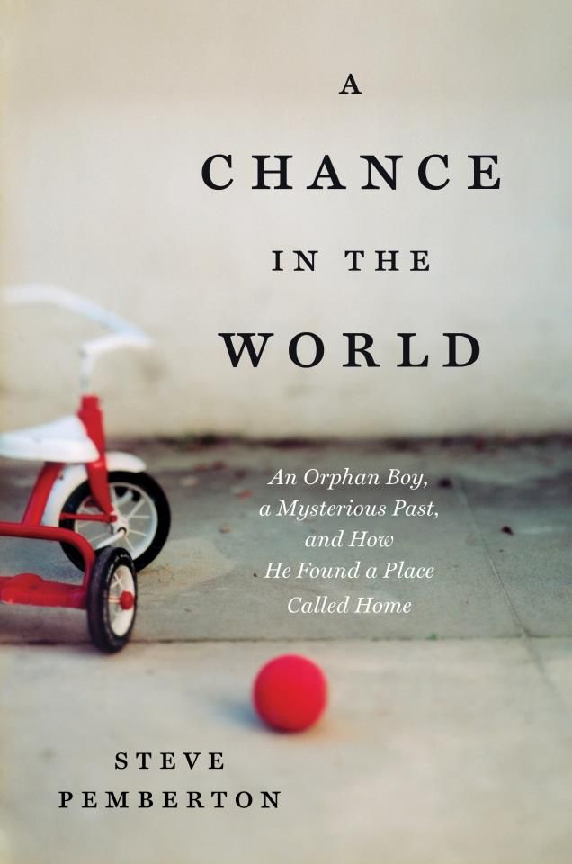 Steve Pemberton's riveting autobiography chronicles his difficult path through foster care and his determined search for his family. It is an inspirational story proving the strength of the human spirit and what becomes possible when you dare to believe. http://chanceintheworld.com/#prettyPhoto