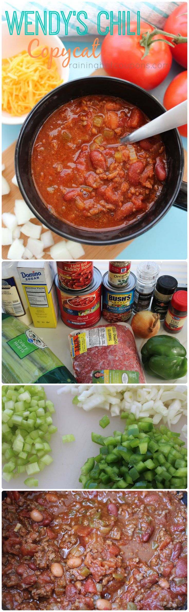 Copycat Wendy's Chili - Made it tonight and  this is the BEST chili recipe I've found so far!