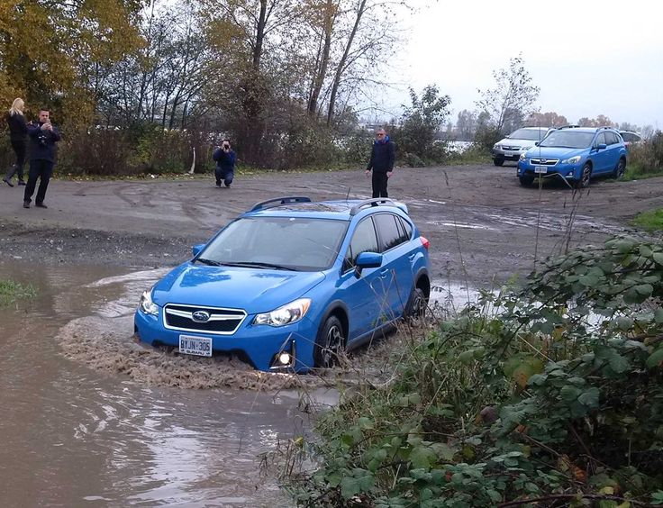 Gettin' dirty with the new 2016 #Subaru #Crosstrek - pavement to puddles for under $30k, #itsupforit @Subaru_Canada
