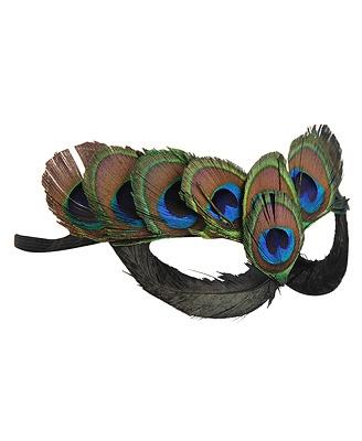 Peacock mask halloween costume