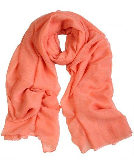 Peach summer hijab / scarf