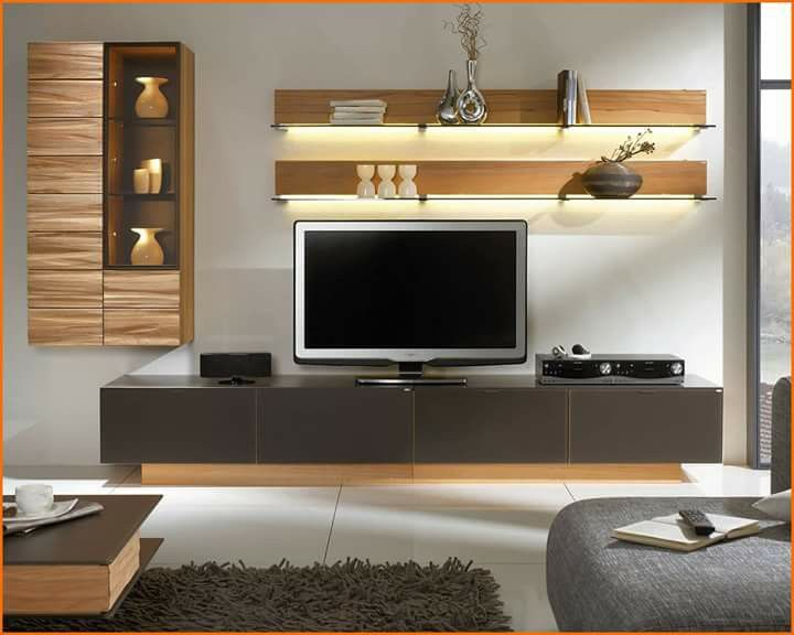 Awesome White Brown Wood Glass Cool Design Contemporary Tv Wall Under  Storage Wall Racks Cabinet Grey Sofa Table Wall Glass Furniture At  Livingroom With ...