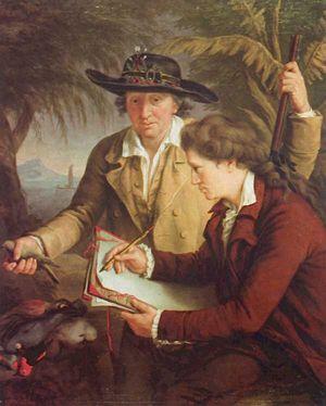 Georg Forster travaille sous les directives de son père, principalement comme dessinateur, à l'étude des animaux et des plantes des mers du sud. Mais ses vrais centres d'intérêt, sur lesquels il commence bientôt des recherches lui-même, sont la géographie et l'ethnologie comparées. Il apprend rapidement les langues des îles polynésiennes. Ses écrits sur les Polynésiens font encore aujourd'hui autorité, comme ils montrent aussi les efforts des Forster pour rencontrer les habitants des îles…