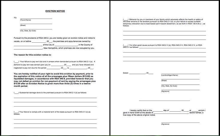 Printable Blank Eviction Notice Form - http\/\/resumesdesign - copy of an eviction notice