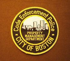 Boston, MA  Code Enforcement Police Patch