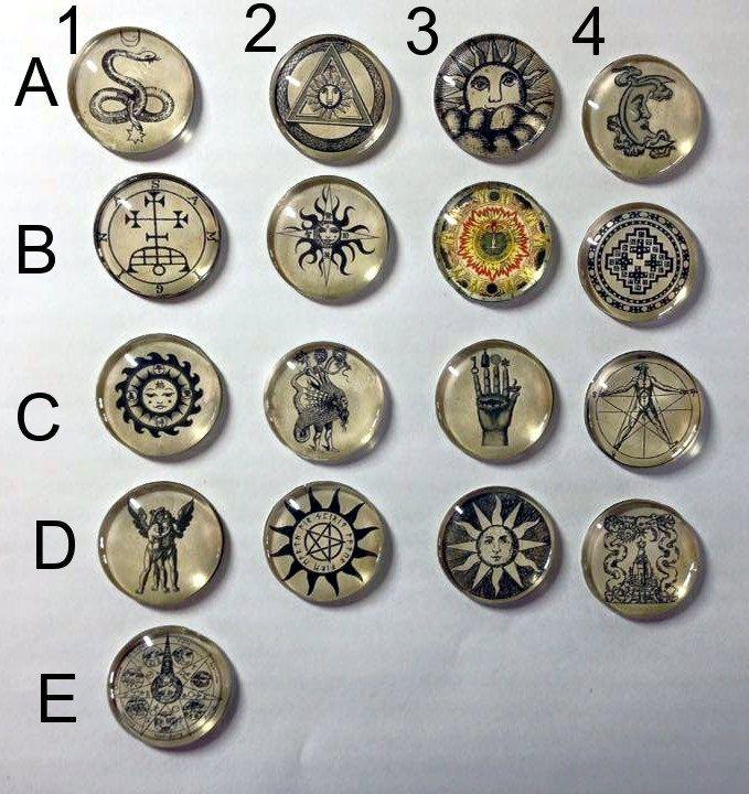 Pagan Alchemy needleminder 30mm SALE - needleminder pinminder needlecraft accessory by UnconventionalX on Etsy