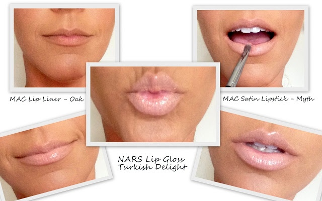 Pretty Lips - MAC Myth and NARS Turkish Delight