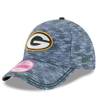 Green Bay Packers New Era Women's Midnite Tech 9TWENTY Adjustable Hat - Heathered Gray