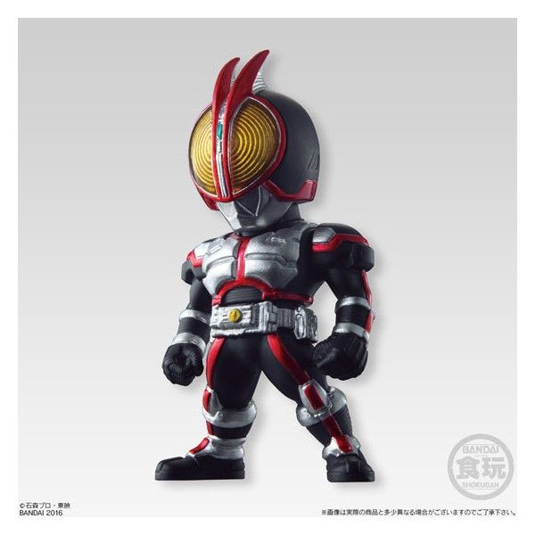 - The distinctive Diforume popular Candy [CONVERGE] series, Kamen Rider series is imposing war! 	- Overwhelming density sense of detail, shine of metallic colored, rider compound eye or the like of which has been reproduced in clear, we will three-dimensional and concentrated attention to the figure of the total height of about 60mm. 	- The first bullet [Masked Rider] [Kamen Rider 555] all seven types of structural specializing in memorable (including two secret). 	- To pursue the…