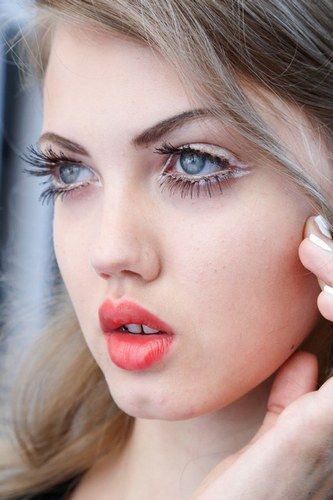 The sixties are back this spring/summer so think big eyelashes, look-at-me pouts and plenty of white eyeliner.
