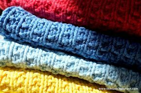 Strikkede karklude (med gratis mønster) / #knitted kitchen clothes (with free #pattern) #tichtach