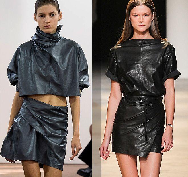 кожаные мини-юбки J.W. Anderson, Isabel Marant