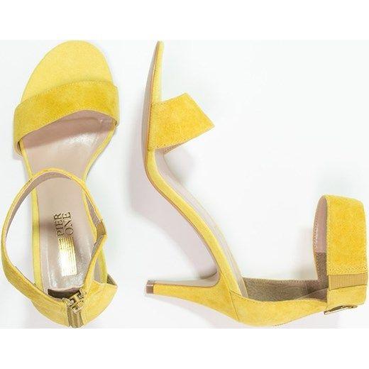 Pier One Sandały bright yellow zalando zolty klasyczny