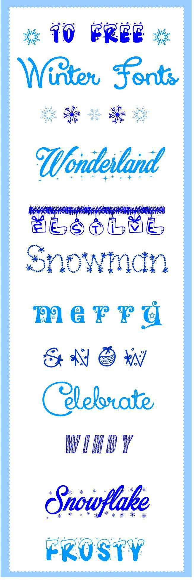 Click here to download 10 magical Christmas free winter fonts More