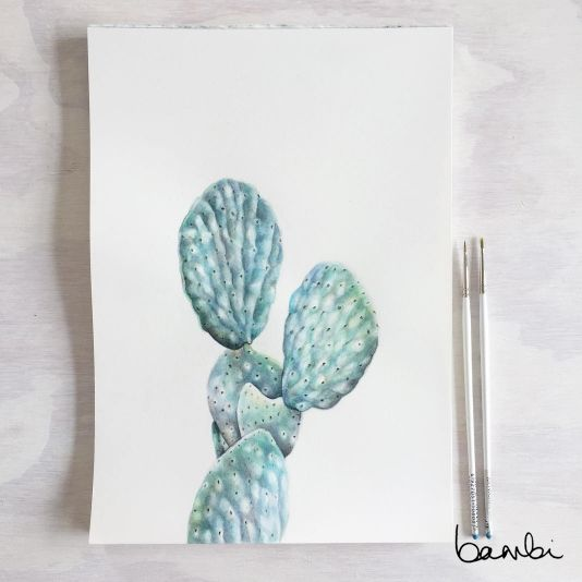 Practice makes cactus. #bybambi