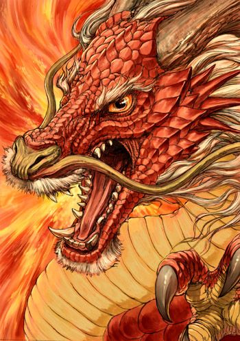 Red Chinese dragon - G.River