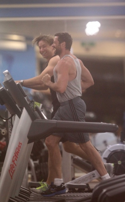 "Hugh Jackman trains in Sydney ahead of ""Wolverine"". 7-14-2012"