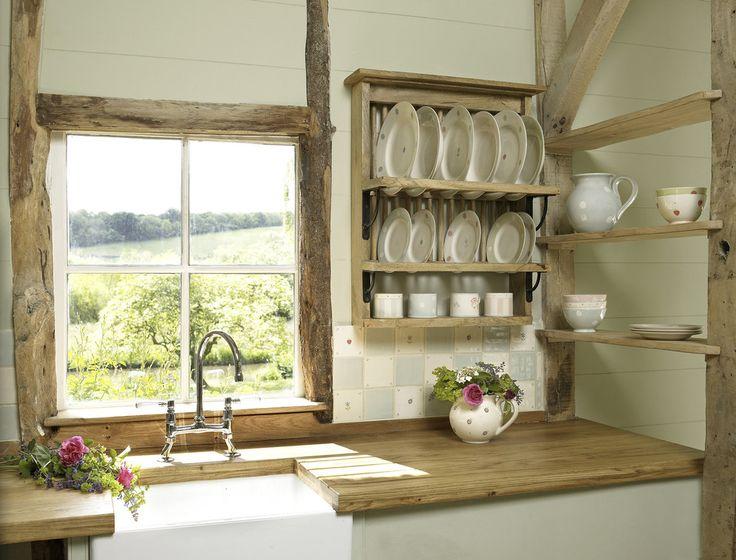 rustic plate racks in kitchens | Susie Watson's plate rack costs £175