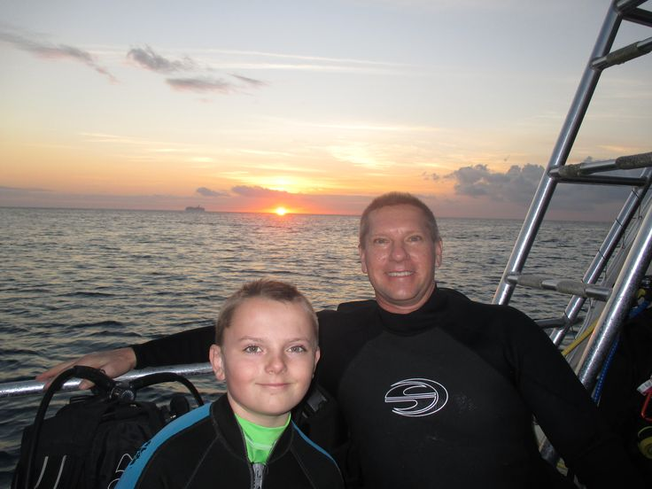 Getting ready for Gavin's first Night Dive