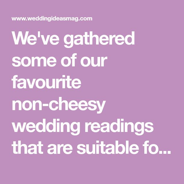 Wedding Readings: Reading Ideas For Every Ceremony
