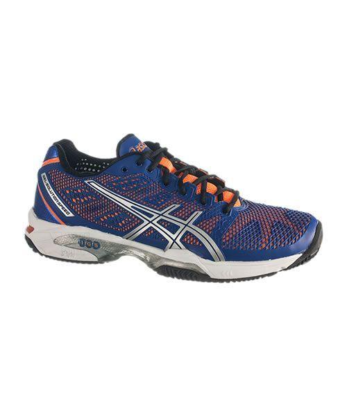 Zapatillas de padel Asics Gel Solution Speed 2 Clay creadas para los jugadores de padel o tenis que buscan unas zapatillas de máxima calidad y gran diseño. Diseñadas para los jugadores mas exigentes, gran calidad http://www.padelnuestro.es/asics-gel-solution-speed-2-clay-azul-naranja-p-4083.html