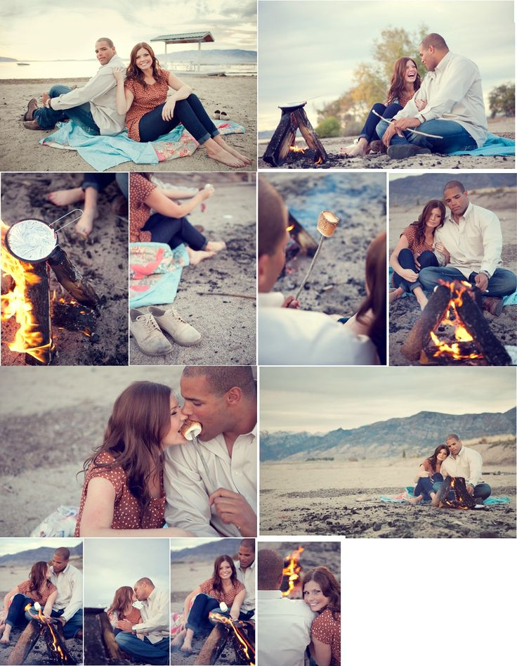 Campfire On Beach Engagement Photoshoot How Cute Would This Be With The Kids Roasting Marshmallows And Eating S Mores