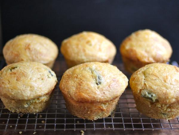 Jalapeno Cheddar Buttermilk Cornbread Muffins