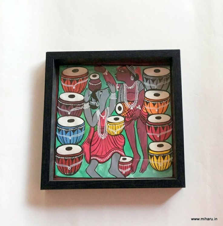 Hand crafted patachitra tray in natural Dyes Size 9'x 9' Miharu Designs