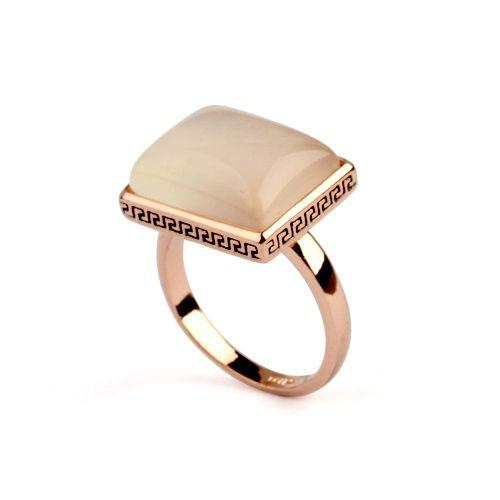 Мода Винтаж ретро 18 К Позолоченные Опал Кольца розницу, квадратные опал кольцо