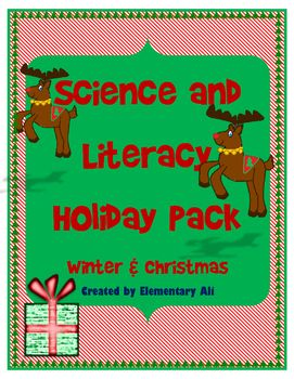 Winter Holiday & Christmas Science and Literacy Activity SetGreat way to incorporate science learning with reading skills during the holiday season!!This Winter Holiday  & Christmas learning set includes:Informational Reading Passages with Vocabulary Enrichment, Graphic Organizers, and Writing Summaries1.How Santa Chose His Reindeer  2.Snowman Weather3.the three Rs and the Holidays4.Evergreen tree Adaptations Science Practice Printables1.Ornamental Diameters2.Freezing Melting and Boi...