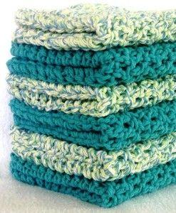 Crochet Wash Cloths / Spa Cloths / Dish Cloths -...