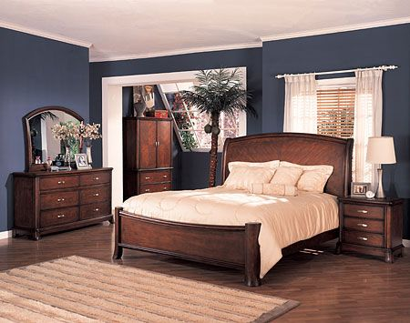 bedrooms with cherry furniture | Soho Panel Bedroom Set Cherry Veneers by Coaster Furniture Company