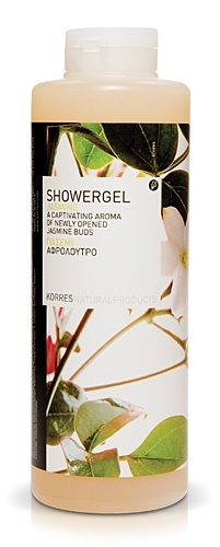Korres Jasmine Shower gel- Smells AMAZING and Korres is a  company that uses as much natural ingredients as possible.