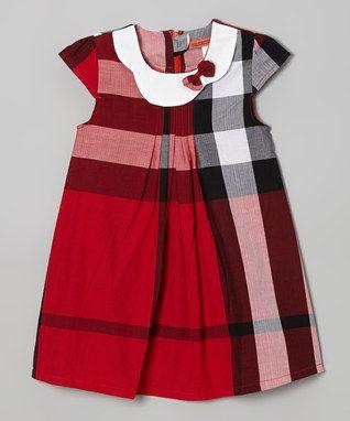 Red Plaid Swing Dress - Toddler & Girls