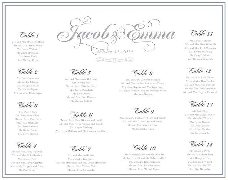 173 best Custom Wedding Seating Boards images on Pinterest - wedding chart