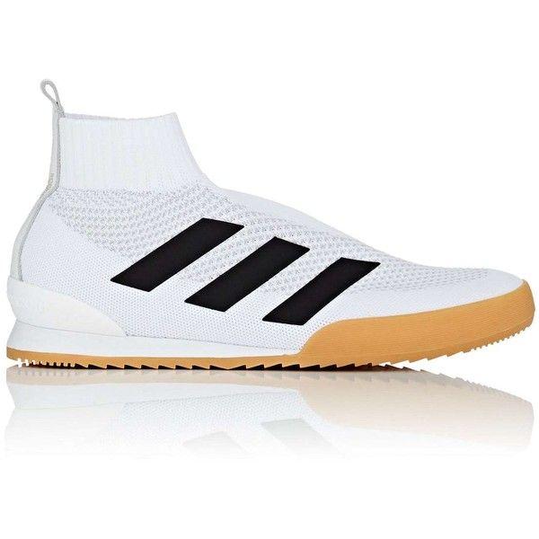 Gosha Rubchinskiy X adidas Men's Men's Ace Primeknit Sneakers ($320) ❤ liked on Polyvore featuring men's fashion, men's shoes, men's sneakers, white, mens white high top sneakers, mens hi tops, mens sneakers, mens shoes and mens vegan shoes
