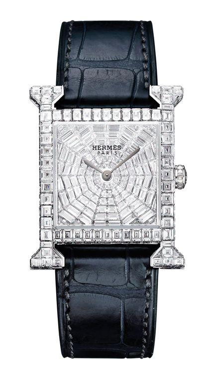 -Hermes H-our Diamond watch/ fine jewelry.