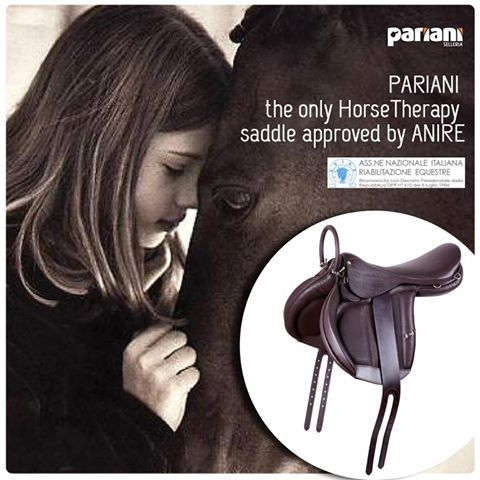PARIANI LOVES HORSES AND THE WAY THEY ARE ABLE TO REACH OUT AND CONNECT WITH SPECIAL PEOPLE IN NEED.  The HorseTherapy #saddle Pariani developed out of passion is the only one approved by Anire / the italian horse therapy association.  Just #Ask to know more!  #horsetherapy #saddles