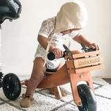 KINDERFEETS - BALANCE BIKE - BAMBOO TINY TOT + CRATE