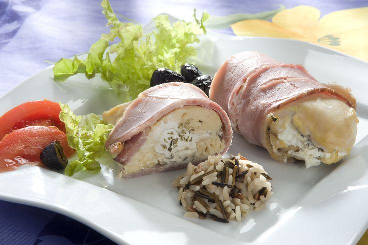 #recette : escalopes de poulet au #chevre et au jambon cru. #Soignon