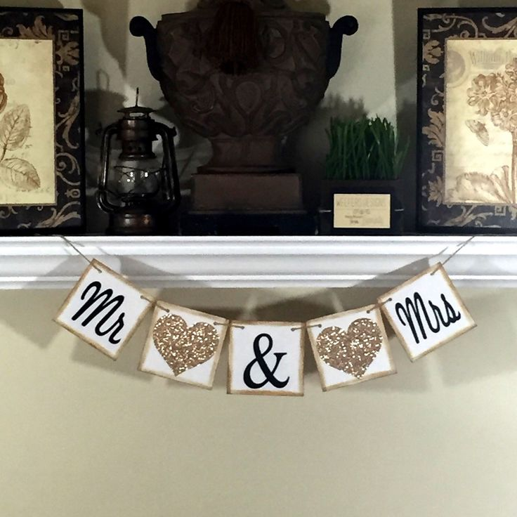 Mr And Mrs Banner Wedding Photo Props Reception Decor Thank