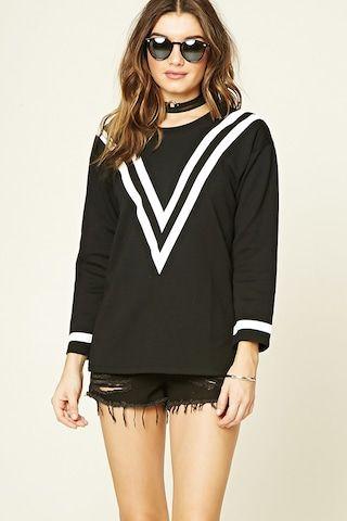 Chevron Patterned Sweatshirt