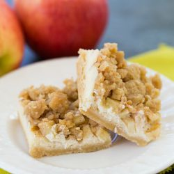 Apple Cheesecake Crumb Bars | Brown Eyed Baker