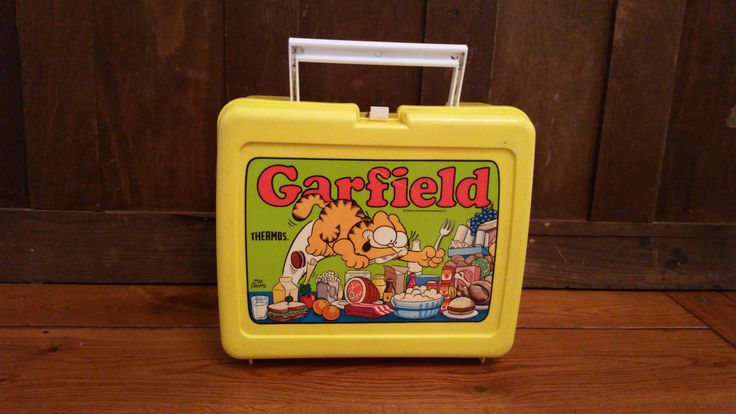 Vintage Plastic Yellow Garfield Aladdin Lunch Box and Thermos Jim Davis 1978 by…