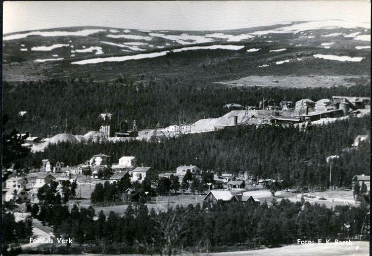 Folldal verk Hedmark fylke gruvene i bakgrunnen stp 1953 Foto: E.K. Barth