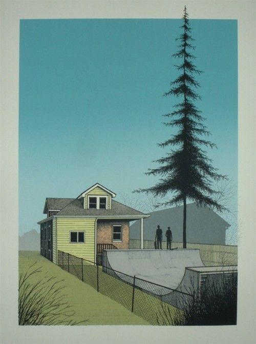 "thesleepscience:    ""Spring Is Here"" Art Print by Justin"