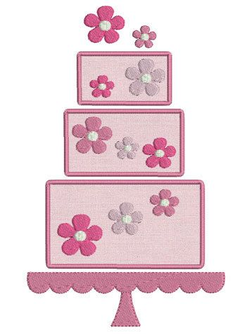 Embroidery design machine applique wedding cake instant download from BrodonsetScrappons on Etsy Studio